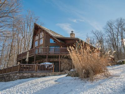 Photo for Casa Montes: Enjoy Lake views & Lake access from centrally located log home!