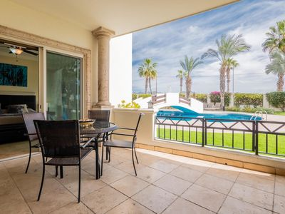 Photo for Steps to Medano Beach, spacious poolside unit