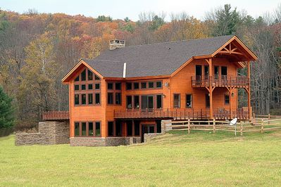 This is the front of the home facing the river...Fall foliage is spectacular
