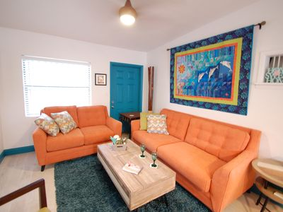 Photo for Uptown Cocoa Beach Cottage - Walk to shops, dining, and the beach!