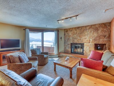 Photo for Downtown condo w/fireplace, grill & shared hot tub-amazing lake & mountain views