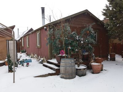 Photo for Cabin with Fireplace. Small yard. Cast iron tub with ultra hot water.