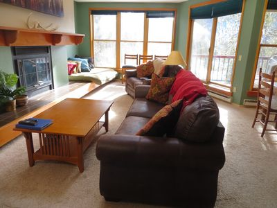 Comfy living room couch and love seat.