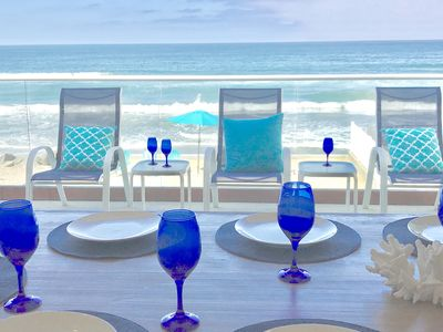 Photo for Oceanfront Luxury at its Finest, A/C, Private Beachfront, Private Sandy Beach