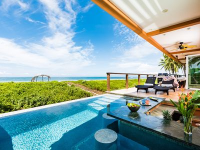 Photo for LUXURY BEACHFRONT Private 5 Bedroom Villa! SPECTACULAR VIEWS! INFINITY POOL BAR
