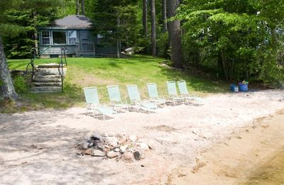 Beach, chairs, fire pit are all included for your pleasure during your stay.