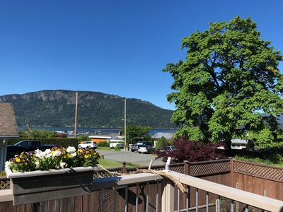 view on the back deck
