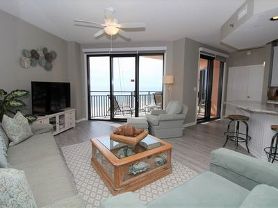 Photo for Seachase 704C- Beach Front Views from Terrace and Luxurious Interior!