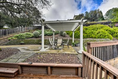 The vacation rental features unique landscaping and a bocce ball field!