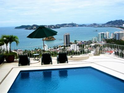 Photo for Designer Villa W/ Spectacular  Acapulco Bay Views