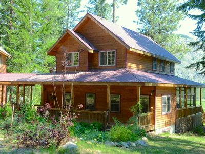 Photo for Gorgeous Alpine Valley Lodge in Mazama! Ski Trail runs right thru the property!