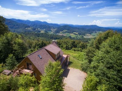 Photo for That view, though! Prepared to be WOW'd! Easy Access to Asheville, too!