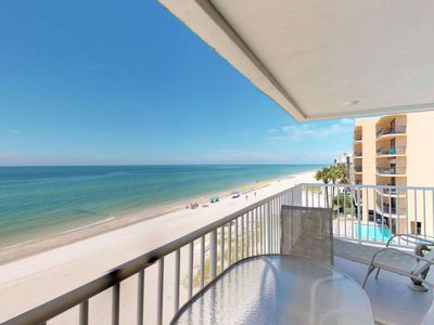 Photo for Wraparound Balcony with Views from Every Room! Outstanding Beachfront Condo Near All Activities.