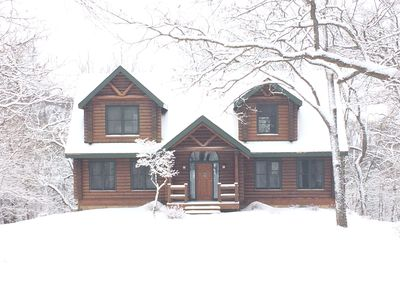 Photo for Make Memories in a Gorgeous Luxury Log Cabin - 5BD & 4BA is Great for Families