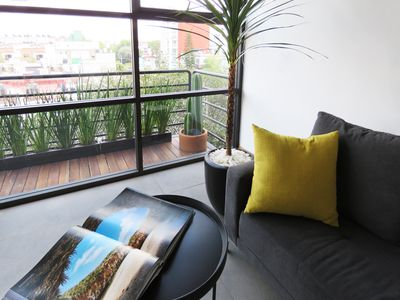 Photo for Contemporary Apartment in Condesa with green balcony