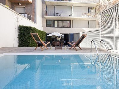 Photo for Duplex with Private Pool and Garden in Sarrià 3 rooms 10 pax - Free WiFi