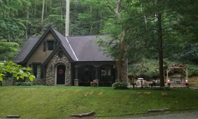 Photo for LUXURY Story Book Cottage 5 Secluded Acres of Lush FOREST & STREAMS *PEACEFUL*