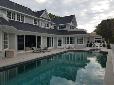 Photo for Magnificant Waterfront Home w/ 50ft Heated Pool & Hot Tub