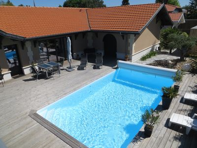 Photo for Bassin Arcachon, pleasant villa 9/10 people, close to everything