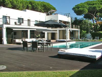Photo for 7 bedroom modern beachfront Villa, in Artola, Marbella, close Puerto Cabopino