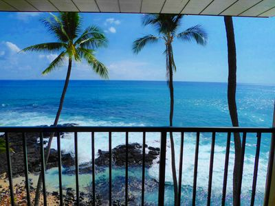 Photo for Direct Oceanfront Condo!  Sea Turtles & Beautiful Sunsets from the Lanai