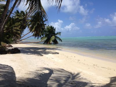 Photo for ILE SAINTE MARIE WOOD HOUSE ON THE BEACH WITH GARDEN FACING THE LAGOON EAST COAST