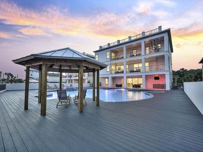 Photo for Brand New Vacation Home on 30A w/ Gigantic Pool & Rooftop Deck!