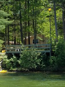 View of house from lake.