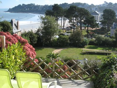 Photo for Perros Guirec PRICE GREENHOUSE, Studio on beach, south terrace, bed 2p, Wifi