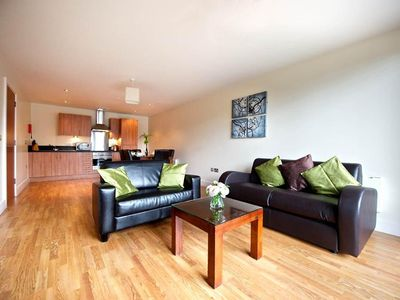 Photo for Spacious Contemporary Apartment-Free Wifi - Steps to Bullring Shopping Ctr