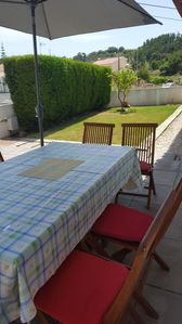 You can enjoy the quiet outdoors, having a meal or a barbeque outside