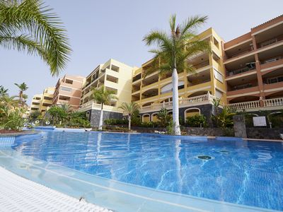 Photo for Superb modern apartment near the beach with a beautiful large pool!