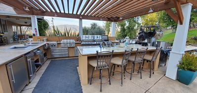 A large outdoor kitchen that we went a little crazy with.