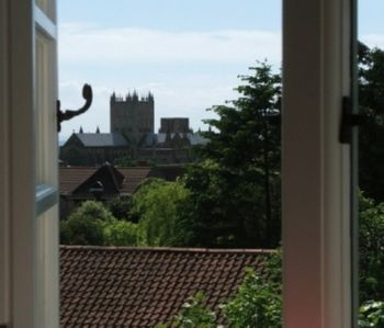 View of Wells Cathedral from the house.