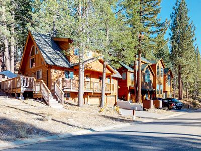 Photo for NEW LISTING! Comfortable cabin w/ three gas fireplaces, furnished patio, & deck