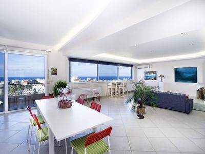 Photo for Fantastic penthouse with wrap-around views of Chania