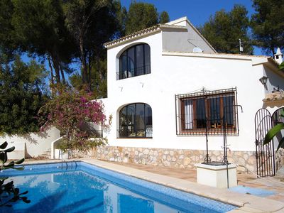 Photo for This 3-bedroom villa for up to 6 guests is located in Moraira and has a private swimming pool and Wi