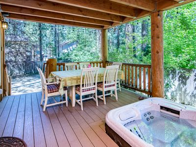 Photo for Two Decks & Hot Tub in South Lake Tahoe – Near Acres of National Forest!