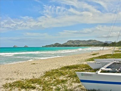 Kailua Beach to south and Moluluas from beachfront rental home