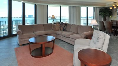 Photo for One of the MOST POPULAR VIEWS in the building! 3 BR 3.5 BA! On the Bay!