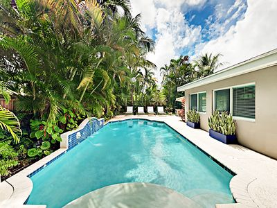Photo for Chic South Florida Pool Home With A Tropical Backyard And Meticulous Decor