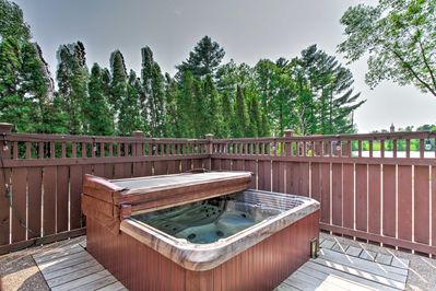 Unwind in the private hot tub.