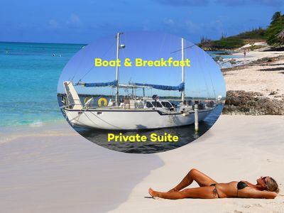 Photo for Private Suite on board a large sail boat - Continental Breakfast included