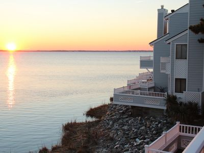 Photo for Waterfront Townhouse!  Gorgeous Sunsets!  2 Decks on Water!