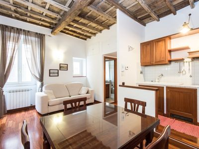 Photo for Rome Apartment, Sleeps 4 with Air Con and Free WiFi