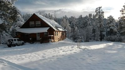 Photo for Luxury Cabin Home 3,000 sq.ft, & Close to Skiing, Summer Dates Still Open