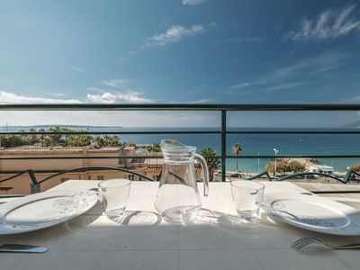 Photo for Beautiful 3 room apartment with sea view