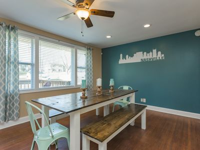 Photo for Completely Renovated 4BR/3BA House with Game Room, Bar, Hot Tub, & Fenced Yard!