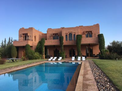 Photo for Luxurious Marrakech villa in landscaped gardens and private pool