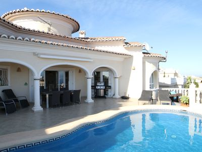 Photo for Luxury villa with private pool, fantastic sea views and a lot of privacy.